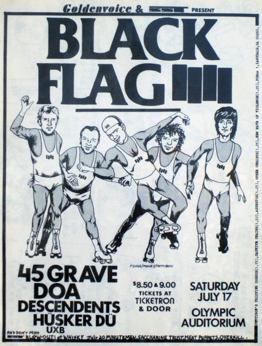 Black Flag, Descendents y Husker Du.