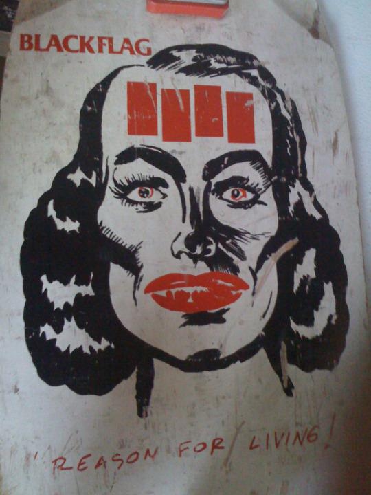 Black Flag board, 1984