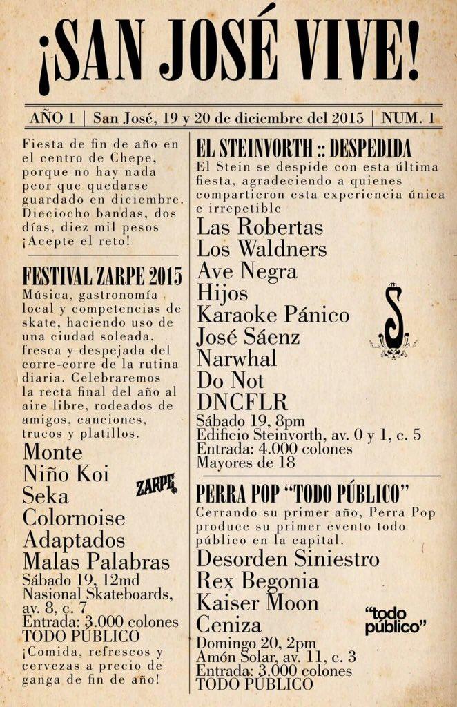 Festival de rock - Cierre de 2015